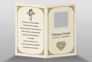 free memorial card templates - Free Memorial Card Template