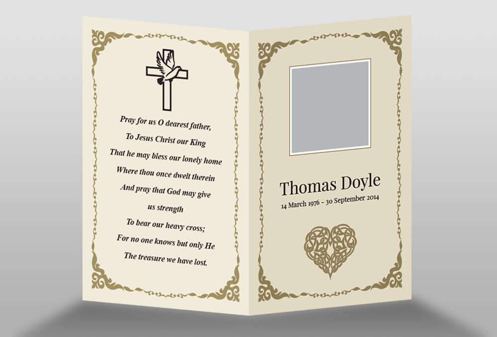 in memory cards templates - free memorial card template in indesign format download