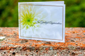 ACF 1 acknowledgement card with flower