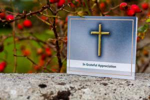 ACF2 acknowledgement card with golden cross