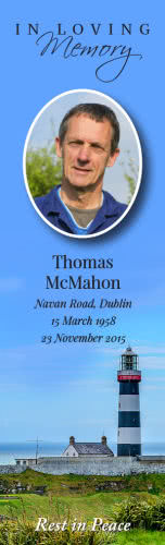 Memorial Bookmark with Irish landscapes