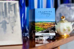 Scenic memorial card MP-38 with Irish landscape