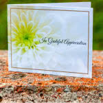 Flower design - funeral thank you / acknowledgement card