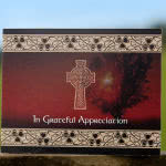 Acknowledgement card with Celtic cross