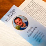 Memorial Bookmark within a book