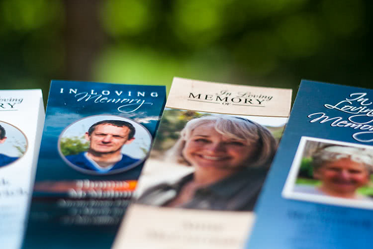 Memorial Bookmarks, closeup, shallow DOF