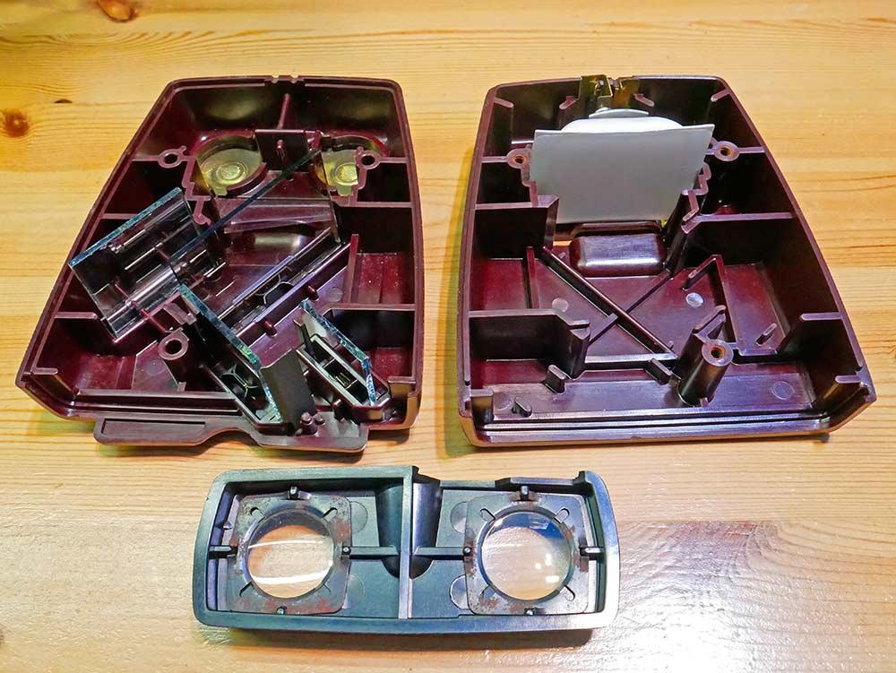 Bi-lens 35 taken apart