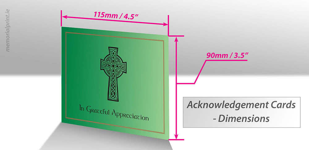 "Card with standard dimensions shown, 115mm/4.5"" by 90mm / 3.5""."