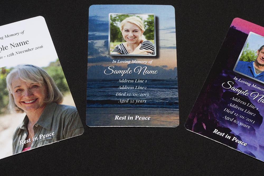 Wallet memorial card