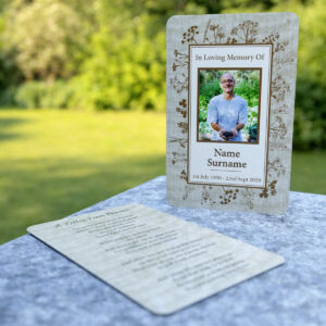MPW-17 herbs and garden themed wallet memorial card