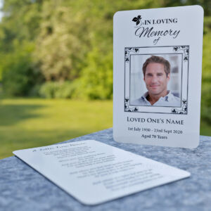 MPW24 Wallet Memorial Card with decorative frame